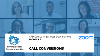 CPD Course – Module 2: Call Conversions. Live On Zoom (20/01/2021 12-2pm)
