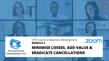 CPD Course – Module 4: Minimise Losses, Add Value & Eradicate Cancellations. Live On Zoom (03/02/2021 7-9pm)