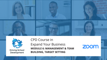 CPD COURSE – MODULE 6: MANAGEMENT & TEAM BUILDING, TARGET SETTING. Live On Zoom Maximum 10 Attendees (02/09/2021 7-9pm) Attend All 6 Modules For £250